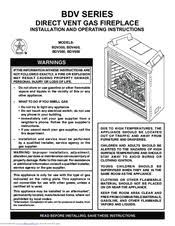 Fireplace Installation Instructions by Monessen Hearth Direct Vent Gas Fireplace Bdv300 Manuals