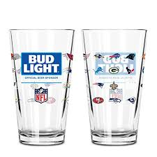32 pack of bud light amazon com bud light official 32 team nfl pint glass 2 pack beer