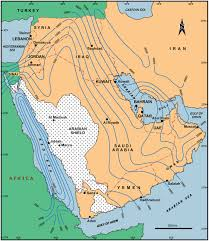 New Middle East Map by Petroleum Systems In The Middle East Geological Society London