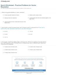 quiz u0026 worksheet practice problems for vector resolution study com