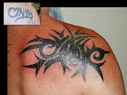 black cover up black tribal tattoo cover up on shoulder design