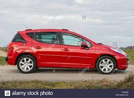 peugeot estate cars peugeot 207 sw estate car stock photo royalty free image 52347920