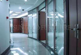 Types Of Room Dividers Luxury Black Frame Types Of Glass Wall Widely Used Office Room