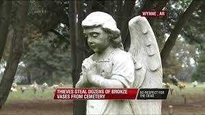 Vases Stolen From Cemetery Police Recover Dozens Of Bronze Vases Stolen From Wynne Arkansas