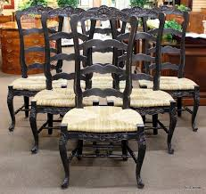 6 Black Dining Chairs Set Of 6 Black Country Dining Chairs With Wide Seats