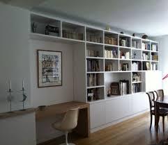 bibliothèque avec bureau intégré déco meuble bibliotheque avec bureau integre 88 montreuil