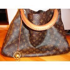 louis vuitton artsy mm bag louis vuitton shoulder bag artsy mm golden leather ref a54069