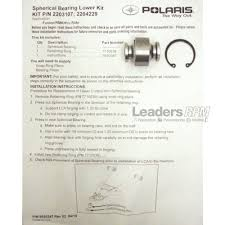 polaris new oem snowmobile control arm lower spherical bearing iq