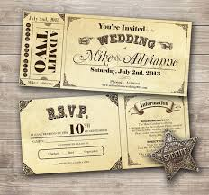 ticket wedding invitations items similar to country vintage ticket wedding invitation pdf