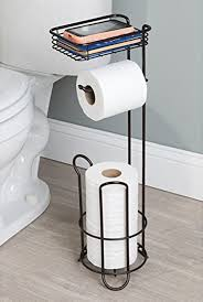 table paper holder free standing toilet paper holder tissue roll stand bronze bathroom