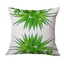 Home Decor Pillows Flowers Beach Pattern Pillow Sofa Waist Throw Cushion Cover Home