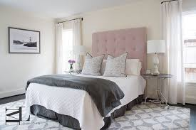 pink headboard and pink bedskirt and pink diamond rug