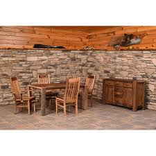 barnwood timber ridge dining table amish crafted furniture