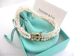tiffany bracelet pearl images Tiffany co 18k gold picasso multi strand pearl bracelet bangle 8 jpeg