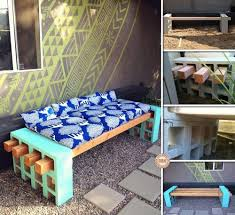 Building Outdoor Fireplace With Cinder Blocks by Furniture Rustic Outdoor Bench Material Ideas With Cinder Block