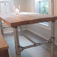 Pipe Desk Extra Thick Pipe Reclaimed Wood Desk Industrial Desk by Reclaimed Wood Table With Galvanized Steel Framework Below