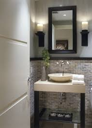 Powder Room Decor Powder Room Tile Half Way Up So Pretty This For A Spare