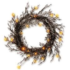 national tree company 26 in black glittered halloween wreath with