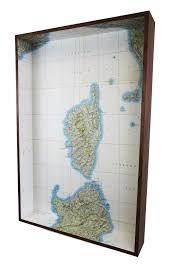 Corsica Map Corsica Map Box Framed Map U2013 Querencias
