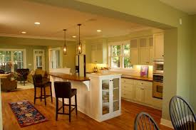 Light Oak Kitchen Chairs by Interior Attractive Open Floor Plan Kitchen Dining Living Room