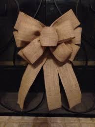burlap bow tree topper wedding bow burlap pew bow burlap