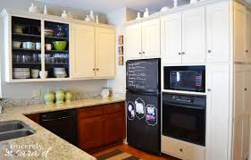 Painting Cabinets With Chalk Paint Sincerely Sara D - Painting kitchen cabinets with black chalk paint