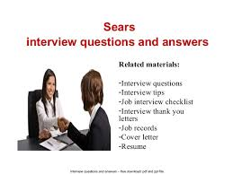 sears interview questions and answers