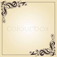 delicate calligraphic frame stock vector colourbox