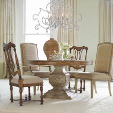 Hooker Furniture Sanctuary  Piece Round Pedestal Dining Table Set - Hooker dining room sets