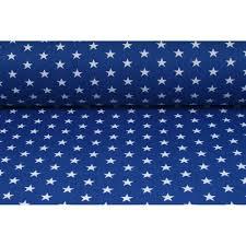 Modre by Bavlněné Modré Bílé Hvězdičky Metráž Látky