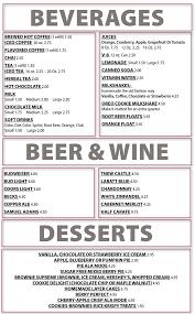 restaurants with light menus drinks desserts menu dot s restaurant wilminton vt