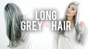 why have i gor grey hair in my 30s grey hairstyle how i style my long grey hair routine youtube