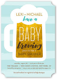 a baby is brewing baby brewing boy 5x7 greeting card baby shower invitations