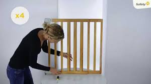 Baby Gates For Stairs No Drilling How To Install Safety 1st Simply Pressure Xl Safety Barrier Youtube