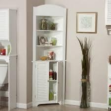 Bathroom Corner Cabinet Storage Bathroom Corner Cabinet Storage White Shelf Floor Wall