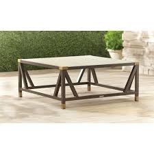 Wicker Patio Coffee Table Square Outdoor Coffee Table