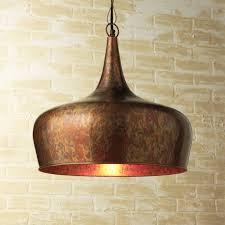 Hammered Copper Pendant Light Hammered Copper Pendant Light Visionexchange Co