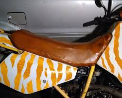 Diy Motorcycle Seat Upholstery Leather Motorcycle Seat From A Leather Jacket 5 Steps With Pictures