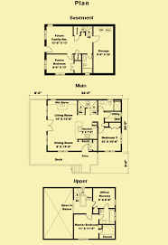 small cabin plans with basement vacation cabin plans for a small rustic 2 bedroom home walkout