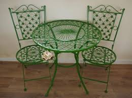 Patio Furniture Wrought Iron by Green Wrought Iron Patio Furniture Interior Pinterest Iron