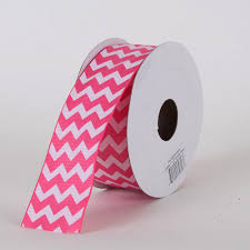 cheap ribbons grosgrain chevron ribbon hot pink w 5 8 inch l 10 yards