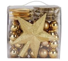 Outdoor Christmas Decorations Argos by Buy Home 100 Piece Christmas Decorations Pack Gold At Argos Co