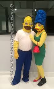 homemade couple halloween costume ideas marge and homer simpson costumes simpsons costumes halloween