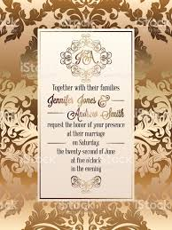 Invitation Card Marriage Vintage Baroque Style Wedding Invitation Card Template Elegant