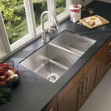 Undermount Kitchen Sinks Moen 1600 Series Undermount Stainless Steel 34 In Double Basin