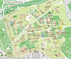 Madrid Spain Map Campus De Moncloa Of Complutense University Map Complutense
