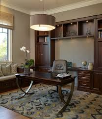bay window built in home office traditional with custom bult ins