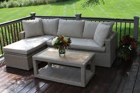 Teak Sectional Patio Furniture - laurel foundry modern farmhouse dillon teak and wicker 3 piece