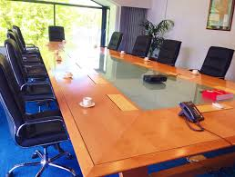 Black Glass Boardroom Table Glass Boardroom Table With 12 Leather Chairs