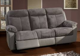 canapé electrique ensemble canapé de relaxation électrique 3 2 places gris virton